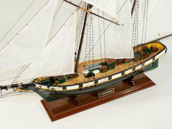 Maquette d'exposition entièrement montée –Mistral Maquettes - La Recouvrance - 80 cm - vue plongeante globale