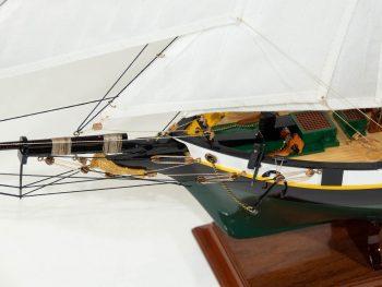 Maquette d'exposition entièrement montée –Mistral Maquettes - La Recouvrance - 80 cm - vue pont avant