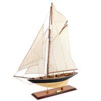 Maquette d'exposition entièrement montée –Mistral Maquettes - Le Pen Duick - 74 cm - vue globale bâbord avant
