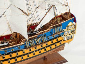 Maquette d'exposition entièrement montée – Mistral Maquettes - Le Royal Louis - 94 cm - vue bâbord arrière