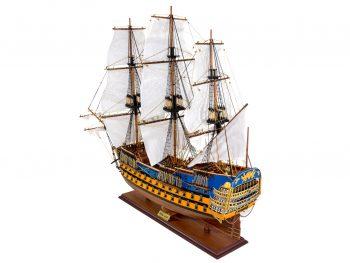Maquette d'exposition entièrement montée –Mistral Maquettes - Le Royal Louis - 94 cm - vue globale bâbord arrière