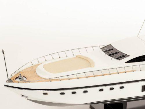 Maquette d'exposition entièrement montée – Mistral Maquettes - Mangusta - 85 cm - Vue babord plage avant