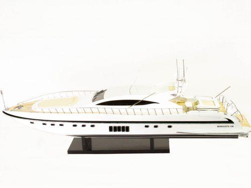 Maquette d'exposition entièrement montée – Mistral Maquettes - Mangusta - 85 cm - Vue babord plongeante