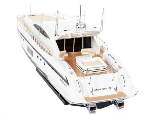 Maquette d'exposition entièrement montée - Mistral Maquettes - Mangusta - 85 cm - vue plage arrière