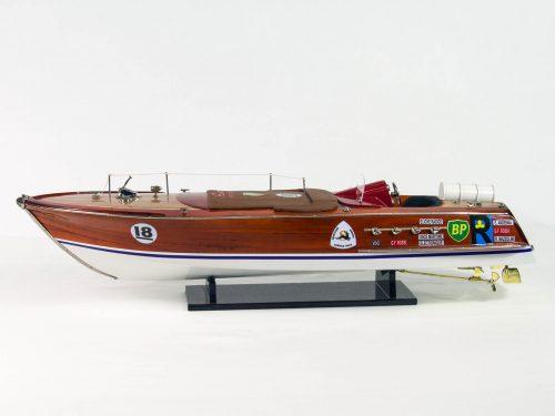 Maquette d'exposition entièrement montée – Mistral Maquettes - Montecarlo - 68 cm - Vue latérale babord