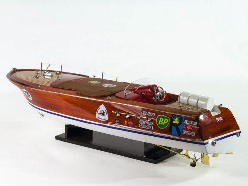 Maquette d'exposition entièrement montée – Mistral Maquettes - Montecarlo - 68 cm - Vue latérale babord arrière
