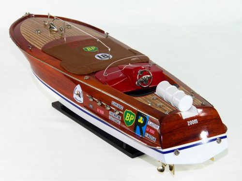 Maquette d'exposition entièrement montée – Mistral Maquettes - Montecarlo - 68 cm - Vue plongeante babord arrière