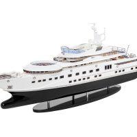 Maquette de collection montée - Mistral Maquettes - Pelorus - 90 cm - vue latérale babord