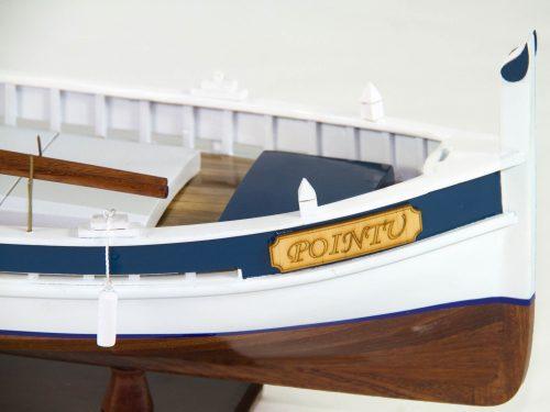 Maquette d'exposition entièrement montée – Mistral Maquettes - Pointu - 50 cm - Vue tribord proue