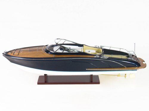 """Maquette d'exposition entièrement montée – Mistral Maquettes - Cruiser """"Rama"""" - 68 cm - vue babord"""