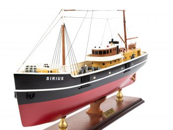 Maquette d'exposition entièrement montée - Mistral Maquettes – Le Sirius - 66 cm - vue bâbord avant