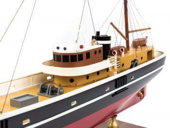 Maquette d'exposition entièrement montée - Mistral Maquettes – Le Sirius - 66 cm - vue bâbord pont arrière