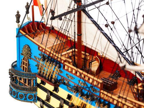 Maquette d'exposition entièrement montée – Mistral Maquettes - San Felipe - 81 cm - vue arrière tribord