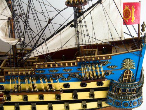 Maquette d'exposition entièrement montée – Mistral Maquettes - San Felipe - 81 cm - vue babord chateau arrière