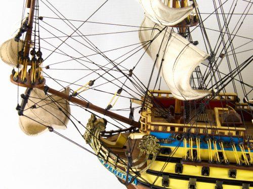Maquette d'exposition entièrement montée – Mistral Maquettes - San Felipe - 81 cm - vue babord pont avant
