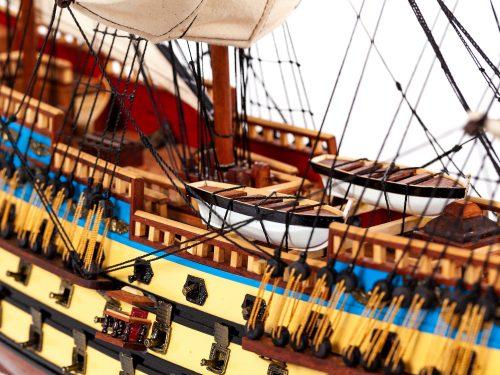 Maquette d'exposition entièrement montée – Mistral Maquettes - San Felipe - 81 cm - vue centrale tribord