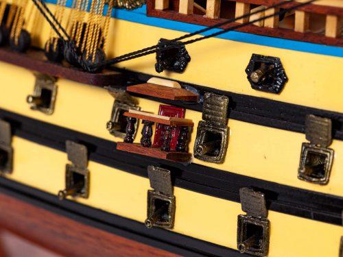 Maquette d'exposition entièrement montée – Mistral Maquettes - San Felipe - 81 cm - vue détaillée tribord