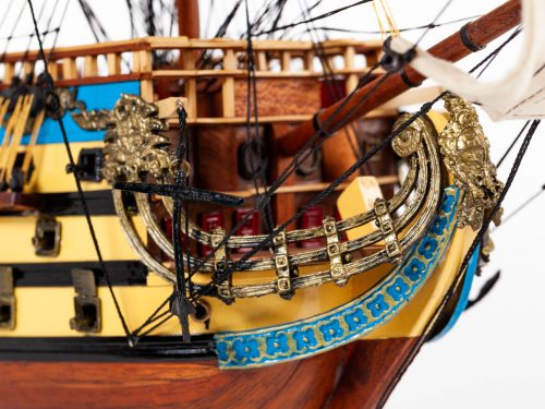 Maquette d'exposition entièrement montée – Mistral Maquettes - San Felipe - 81 cm - vue figure de proue