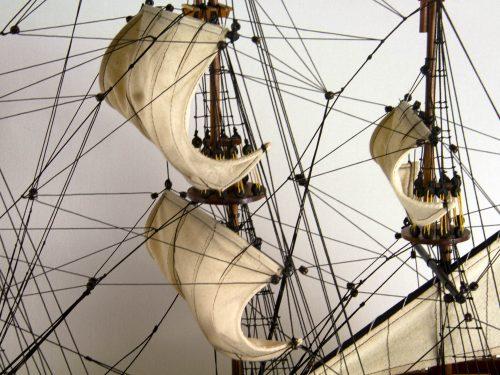 Maquette d'exposition entièrement montée – Mistral Maquettes - San Felipe - 81 cm - vue gréement