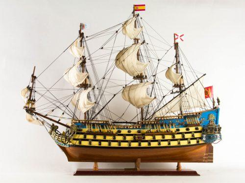 Maquette d'exposition entièrement montée – Mistral Maquettes - San Felipe - 81 cm - vue latérale babord
