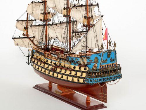 Maquette d'exposition entièrement montée – Mistral Maquettes - San Felipe - 81 cm - vue poupe