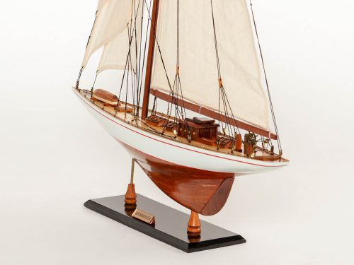 Maquette d'exposition entièrement montée – Mistral Maquettes - Shamrock - 62 cm - vue babord arrière