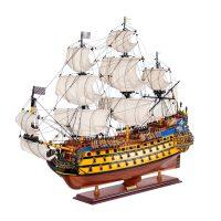 Maquette d'exposition entièrement montée – Mistral Maquettes - Soleil Royal - 80 cm - vue latérale bâbord avant