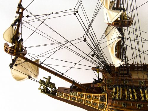 Maquette d'exposition entièrement montée – Mistral Maquettes - Sovereign of the seas - 95 cm - vue bâbord avant