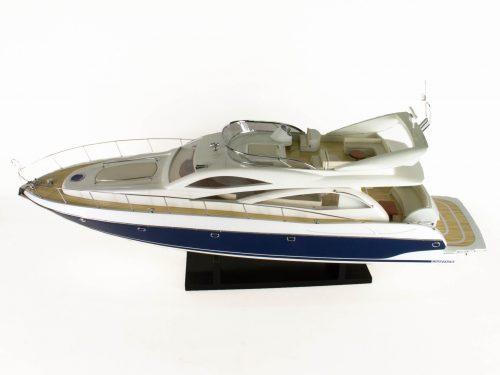 Maquette d'exposition entièrement montée – Mistral Maquettes - Sunseeker - 88 cm - vue globale babord