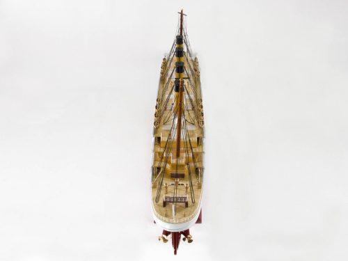 Maquette d'exposition entièrement montée – Mistral Maquettes - Titanic - 101 cm - vue plongeante