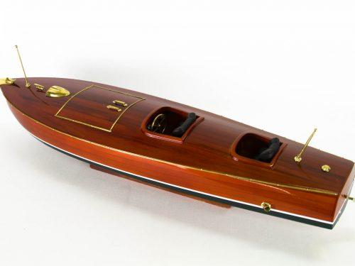 Maquette d'exposition entièrement montée – Mistral Maquettes - Zipper - 77 cm - vue plongeante bâbord