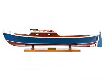 Maquette d'exposition entièrement montée – Mistral Maquettes – Pinasse du bassin d'arcachon (1/20 ème - 53 cm) - vue latérale babord