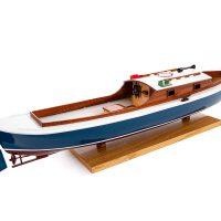 Maquette de collection montée de la pinasse du bassin d'arcachon (1/20 ème - 53 cm) - vue latérale tribord