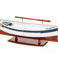 Maquette de collection montée du bateau de pêche Le Pointu (50 cm), bateau traditionnel de Provence