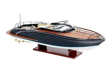 Maquette de collection montée du canot à moteur Rivarama (70 cm), vue d'ensemble