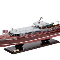 Maquette en bois entièrement montée - Mistral Maquettes – Yacht Thunderbird - 90 cm - Vue latérale bâbord avant