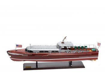 Maquette en bois entièrement montée - Mistral Maquettes – Yacht Thunderbird - 90 cm - Vue latérale bâbord
