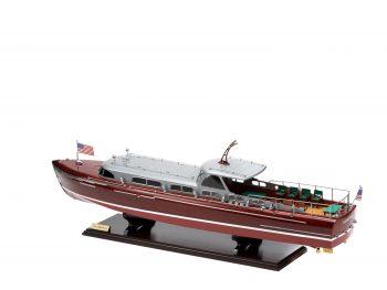 Maquette en bois entièrement montée - Mistral Maquettes – Yacht Thunderbird - 90 cm - Vue latérale bâbord arrière