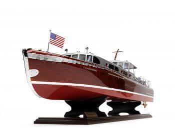 Maquette en bois entièrement montée - Mistral Maquettes – Yacht Thunderbird - 90 cm - Vue bâbord étrave