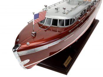 Maquette en bois entièrement montée - Mistral Maquettes – Yacht Thunderbird - 90 cm - Vue bâbord plage avant