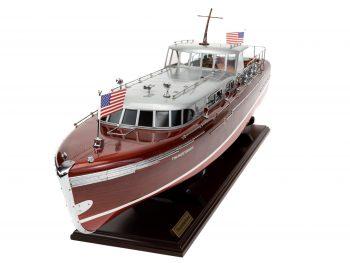 Maquette en bois entièrement montée - Mistral Maquettes – Yacht Thunderbird - 90 cm - Vue bâbord avant