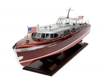 Maquette en bois entièrement montée - Mistral Maquettes – Yacht Thunderbird - 90 cm - Vue globale bâbord avant