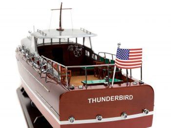 Maquette en bois entièrement montée - Mistral Maquettes – Yacht Thunderbird - 90 cm - Vue bâbord arrière