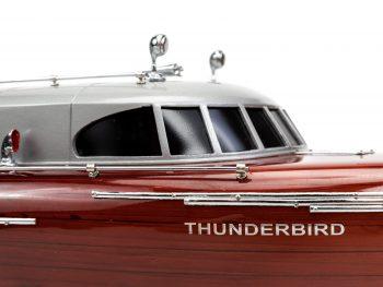 Maquette en bois entièrement montée - Mistral Maquettes – Yacht Thunderbird - 90 cm - gros plan vue tribord roof