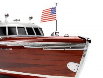 Maquette en bois entièrement montée - Mistral Maquettes – Yacht Thunderbird - 90 cm - vue tribord étrave