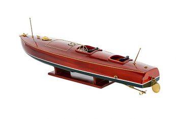 Maquette de collection montée du canot à moteur Zipper (77 cm), vue d'ensemble